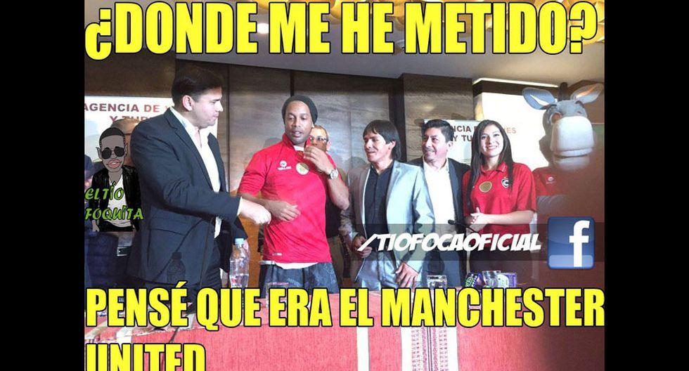 Los memes de Ronaldinho con camiseta de Cienciano [FOTOS] - 6