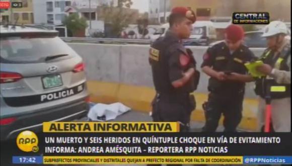 Vía de Evitamiento: un muerto en choque múltiple en La Molina