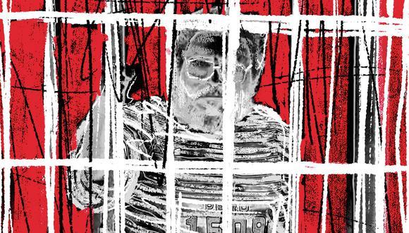 """""""Guzmán lideró una propuesta sumamente particular: personalista, mesiánica, dogmática, centrada en el terror como estrategia"""". (Ilustración: Giovanni Tazza)."""