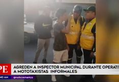 El Agustino: mototaxista informal agrede a inspector de transporte | VIDEO