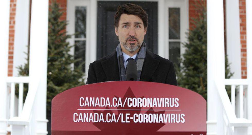"""""""No es momento de estar en parques con amigos u organizando cenas"""", agregó el primer ministro de Canadá, Justin Trudeau."""