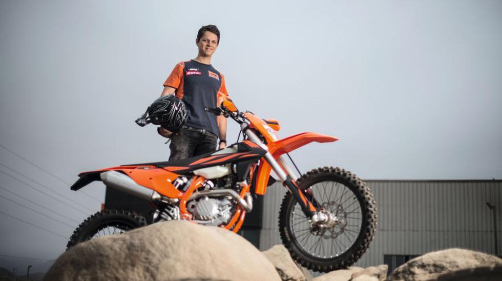 EN FORMA. Aunque será su primer Dakar, César Pardo ha participado en campeonatos mundiales y latinoamericanos de enduro. Física y psicológicamente llega en su mejor momento, asegura. (Foto: Elías Alfageme)