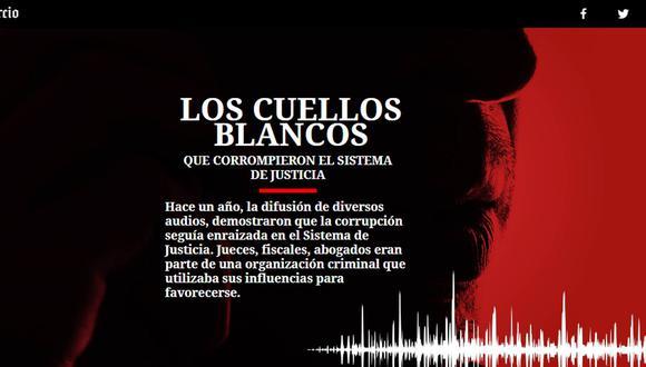 Especial multimedia a un año de la difusión de los audios del caso Los Cuellos Blancos del Puerto. (El Comercio)