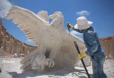Arequipa: artesanos elaboran nuevas esculturas en Añashuayco durante la cuarentena