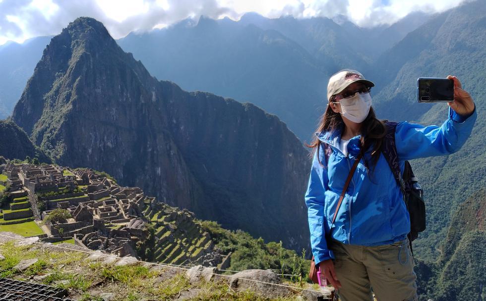 El aforo permitido para Machu Picchu es de 1,122 visitantes por día, que equivale al 50 % del total de ingresantes. (Foto: AFP)