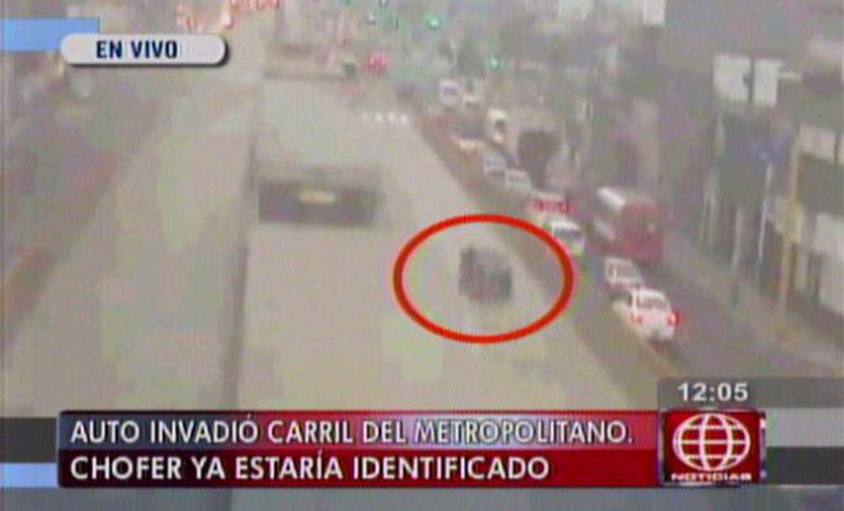 PNP abrió proceso a oficial que invadió vía del Metropolitano