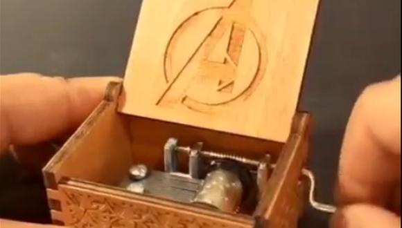 La caja musical de Avengers que todo fanático quiere tener. (Foto: Captura Facebook)