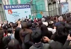 Feria Metropolitana del Libro Lima Lee: reportan aglomeración de personas | VIDEO