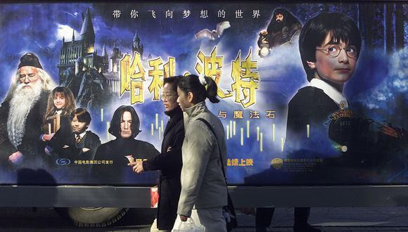 """""""Harry Potter and the Sorcerer's Stone"""" se encuentra en el puesto número 47 de las cintas más taquilleras de la historia.(Frederic Brown / AFP)."""