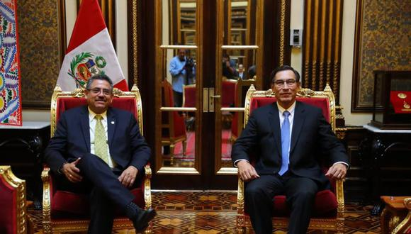 El proyecto de Manuel Merino de Lama generó un airado reclamo del presidente Martín Vizcarra. (Foto: Presidencia de la República)