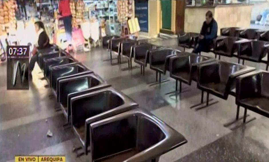 En el terminal de Arequipa no se están vendiendo boletos con destinos para Lima, Cusco, Puno, Tacna y Puno. (Captura: Canal N)