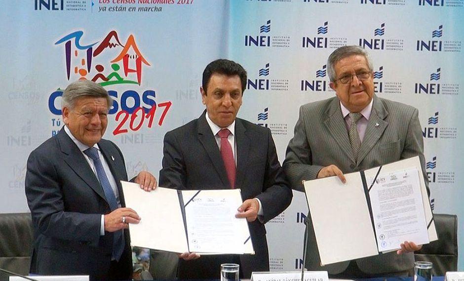 El INEI, de acuerdo a su página web, firmó el convenio de cooperación con la Universidad César Vallejo, de propiedad de Acuña, en marzo último. (Foto: Difusión)