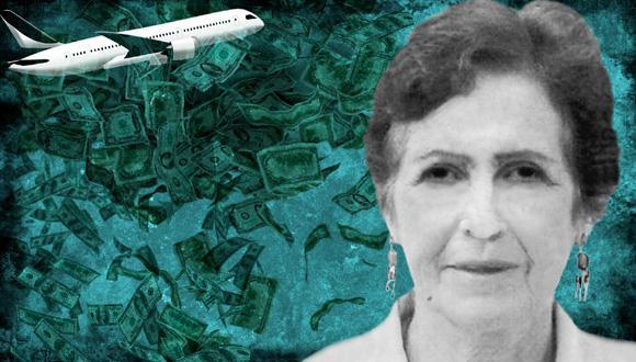 Nelly Evans abrió la cuenta Nº 972362 el 20 de agosto de 1990 en el Banco Privée Edmond de Rothschild. (Ilustración: Raúl Rodríguez)