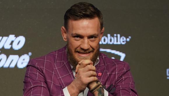 Conor McGregor habló en la conferencia de prensa acerca de Khabib Nurmagomedov y espera con ansias una revancha ante el ruso | Foto: AFP