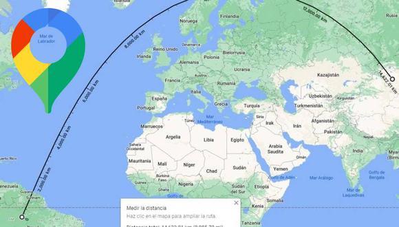 Google Maps tenía escondida una interesante herramienta que permite saber cuántos kilómetros hay entre dos puntos (Foto: Mag / Google Maps)