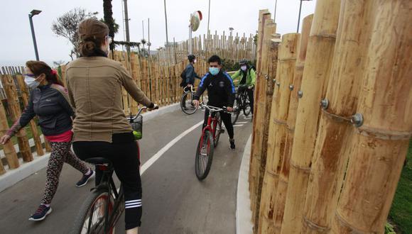 La ciclosenda de San Isidro, ubicada en el malecón, fue inaugurada recientemente por el alcalde Augusto Cáceres Viñas. (Foto: Miguel Bellido/El Comercio)
