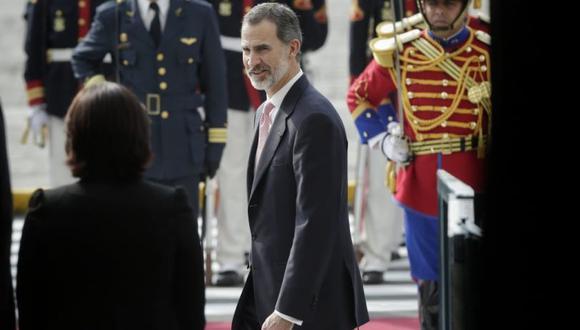 El rey de España Felipe VI en el Congreso de la República. (Foto: Anthony Niño de Guzmán / El Comercio)
