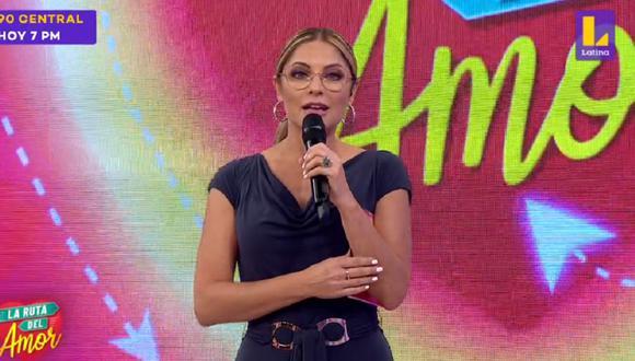 "Karina Rivera se despidió así de ""La ruta del amor"": programa será reemplazado por una telenovela turca. (Foto: Captura de video)"