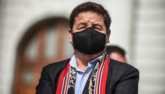 Guido Bellido y el gabinete de ministros obtuvo el voto de confianza del Congreso. (Foto: Ernesto BENAVIDES / AFP)