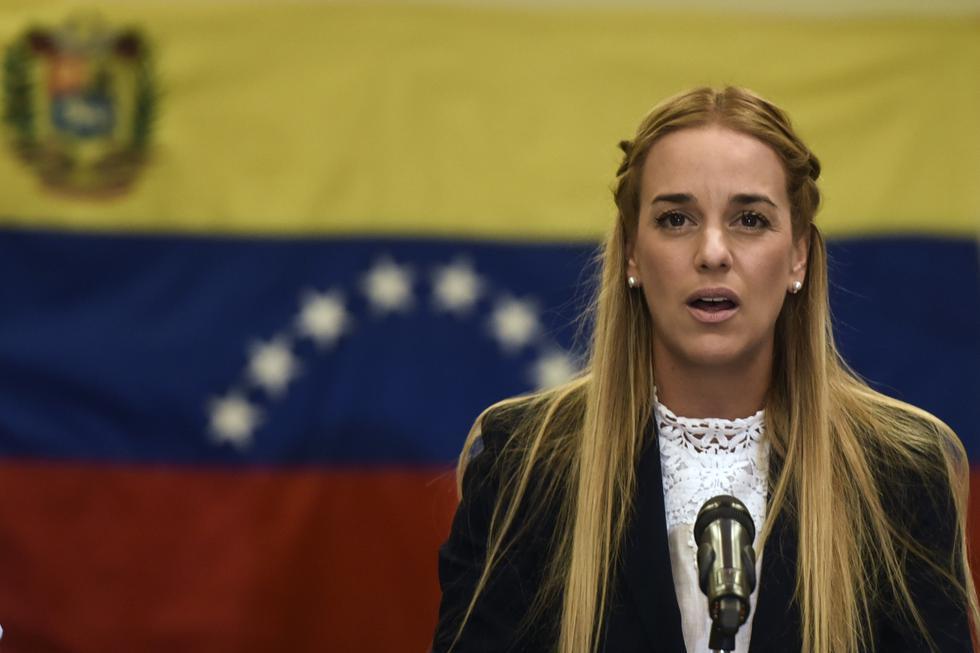 Lilian Tintori: Esposa del opositor venezolano Leopoldo López, se encuentra en España. Foto: Archivo de AFP