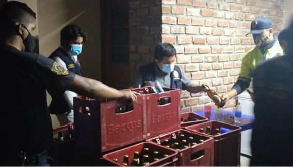 Áncash: intervienen a 17 personas mientras bebían licor en bar clandestino a puertas cerradas (Foto: Municipalidad Provincial del Santa)