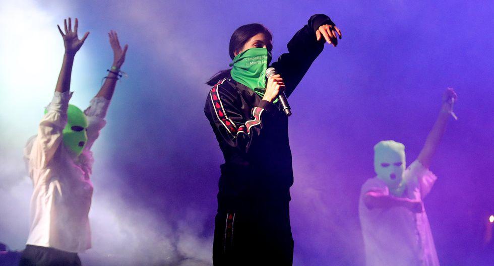 Pussy Riot, durante una presentación en Bogotá, Colombia, en 2018. Foto: EFE.