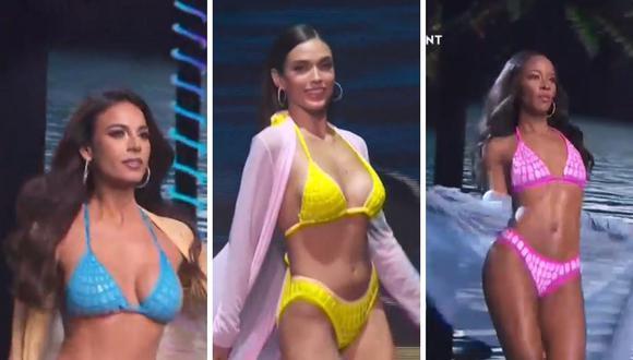 Así se vivió el desfile de bikini de los 21 semifinalistas del Miss Universo 2021. (Foto: Captura TNT).