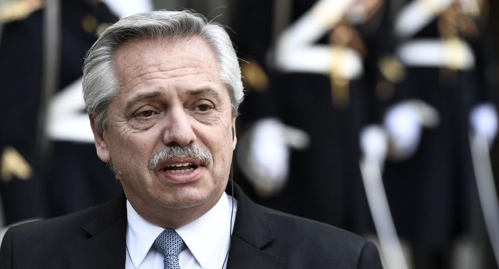 La semana pasada el gobierno argentino designó al Bank of America y al HSBC como los entes encargados para la colocación de la deuda. En la imagen se observa al presidente argentino Alberto Fernández. (Archivo / AFP).