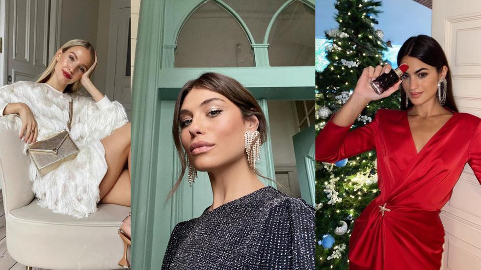 A puerta de las festividades navideñas, inspírate con estas tendencias y crea tu propio look. (Foto: IG @leoniehanne/carmensta.cruz/martalozano)