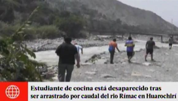 Huarochirí: joven desapareció al ser arrastrado en el río Rímac