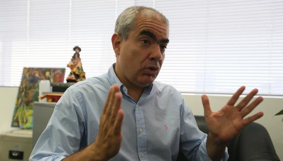"""Ex alcalde Manuel Velarde acusó a la gestión de Augusto Cáceres de querer desactivar todas las obras de su periodo.""""No voy a dejar que ninguna gestión mediocre manipule mi legado"""", dijo.    (Foto: GEC)"""