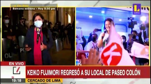 Keiko Fujimori words in the colon