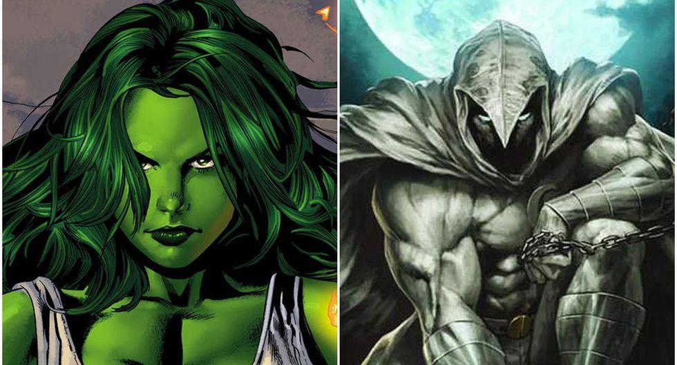 """""""She-Hulk"""" y """"Moon Knight"""" todavía no tienen fecha de estreno. (Fuente: Marvel)"""