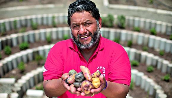 Edilberto Soto, presidente de la Coordinadora Nacional de Productores de Papa (Corpapa), representa a más de 2 mil socios agricultores de Ayacucho. (Foto: Richard Hirano)