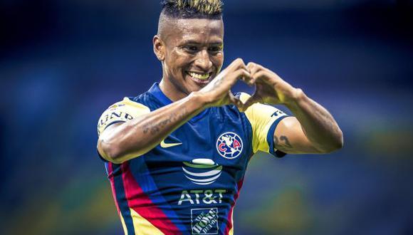 Pedro Aquino tiene 10 partidos y 2 goles en el Clausura 2021 de Liga MX. (Foto: Club América)