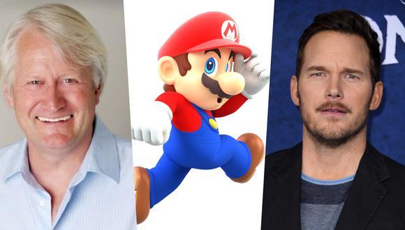 """En los estrenos Charles Martinet, quien ha sido la voz de Super Mario desde el juego """"Super Mario 64""""; y Chris Pratt; quien será la voz del héroe en la cinta de próximo estreno. Fotos: Mas Gamers/ Nintendo/ AFP."""