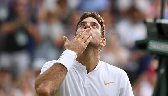 El argentino Juan Martín del Potro se impuso en sets corridos al español Feliciano López y ya está en la tercera ronda de Wimbledon. (Foto: AFP)