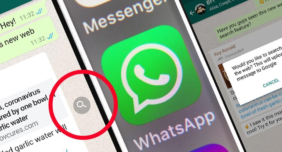 FOTO 1 DE 3 | Conoce el verdadero truco para activar 'la lupa' de WhatsApp y detectar las noticias falsas| Foto: WhatsApp (Desliza a la izquierda para ver más fotos)