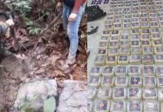 Loreto: decomisan 216 kilos de cocaína enterrados por narcotraficantes tras balacera | VIDEO