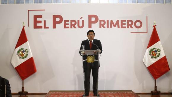 Presidente del Consejo de Ministro, Vicente Zeballos, anuncia medidas para que la ciudadanía pueda fiscalizar a los candidatos (Foto: Renzo Salazar/ GEC)
