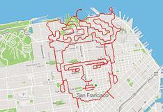 'Running art': conoce la forma creativa y divertida de correr y crear figuras