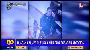 Callao: buscan a banda de mujeres que utilizan niños para robar