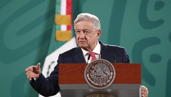 El presidente de México, Andrés Manuel López Obrador, habla durante su conferencia matutina en Palacio Nacional. (EFE/José Méndez).