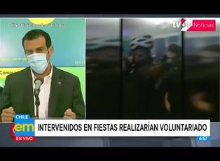 Gobierno de Chile propone que intervenidos en fiestas cuiden a pacientes covid-19 en hospitales