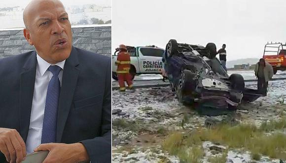 El profesor Roberto Mosquera brindó información sobre el accidente vehicular con jugadores del Binacional en Juliaca, en la región Puno. (Fotos: GEC)