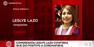 Congresista Leslye Lazo dio positivo para Covid-19