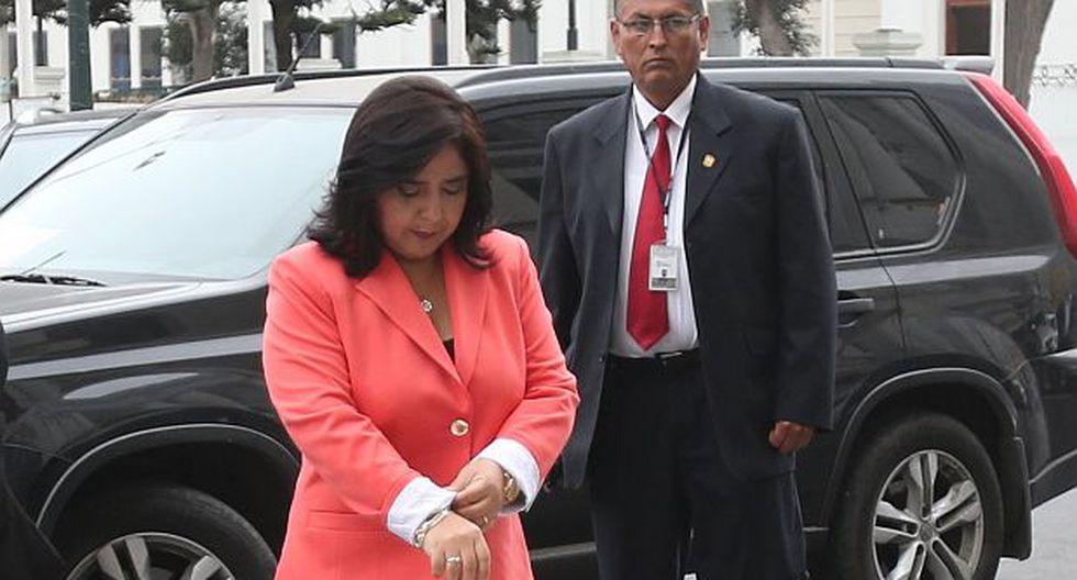 Ana Jara dice que no pidió la renuncia de procuradora Vilcatoma