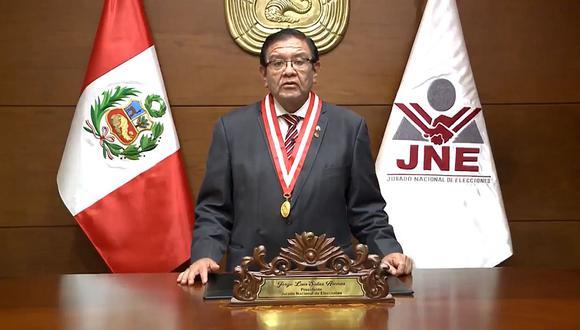 Jorge Salas Arenas se pronunció sobre marcha atrás del JNE en ampliación del plazo para presentar solicitudes de nulidad de mesas de sufragio | Foto: JNE / Archivo
