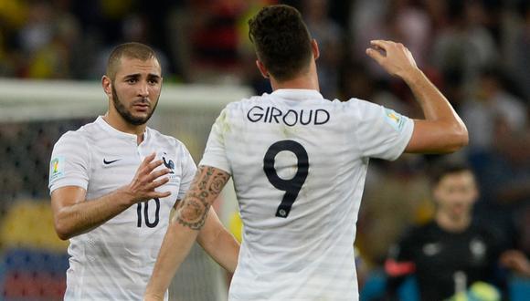 Karim Benzema disputó el Mundial 2014 con la Selección de Francia. (Foto: AFP)