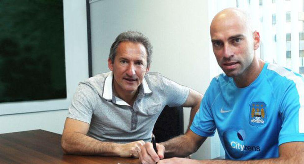 Arquero argentino Willy Caballero fichó por el Manchester City